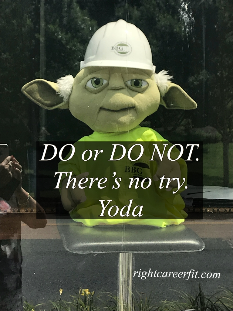DO or DO NOT, there is not try. Yoda